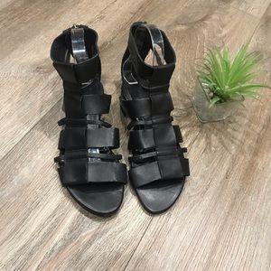 All saints black Phoenix sandals